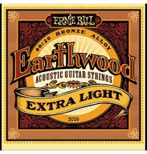 Earthwood 80/20 Bronze Acoustic Guitar Set Extra Light
