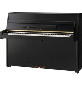 Kawai K15E 110cm Upright Piano Ebony Polyester
