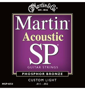 Martin SP Phosphor Bronze Acoustic Guitar Set Custom Light