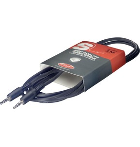 Stagg 3 Metre 3.5mm Stereo Jack to 3.5mm Stereo Jack