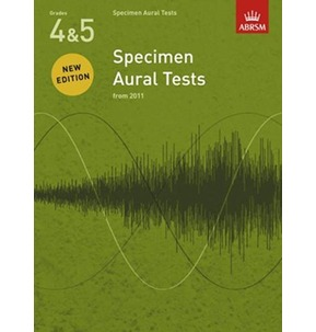 ABRSM Specimen Aural Tests From 2011 Book & CD Grades 4-5