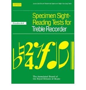 Specimen Sight-Reading Tests For Recorder - ABRSM Grades 6-8