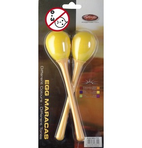 Stagg Egg Maracas Large With Handle Yellow