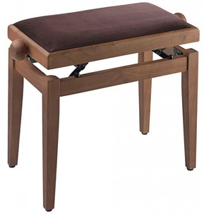 Stagg PB40 Adjustable Piano Stool - Wild Cherry Matt With Brown Top