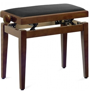 Stagg PB40 Adjustable Piano Stool - Mahogany Matt With Brown Top