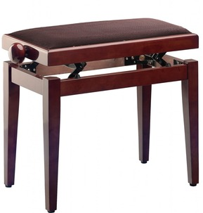 Stagg PB40 Adjustable Piano Stool - Mahogany Polyester With Brown Top