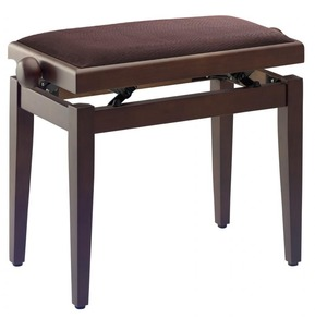 Stagg PB40 Adjustable Piano Stool - Walnut Matt With Brown Top