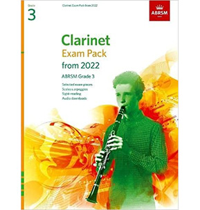 ABRSM Clarinet Exam Pack from 2022 - Grade 3