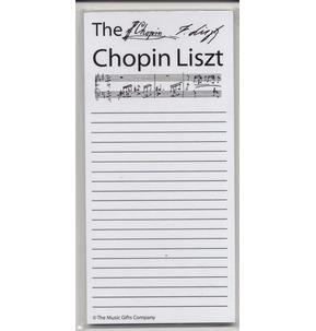 Chopin Liszt (Shopping List) by Music Gifts Company