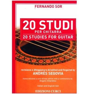 20 Studies for Guitar by Sor/Segovia
