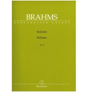 Brahms Ballads Op10 Barenreiter Urtext Edition (Barenreiter)