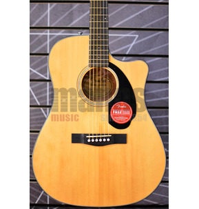Fender CD-60SCE Dreadnought Electro Acoustic Guitar, Natural, Walnut