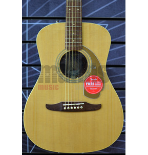 Fender Malibu Player Electro Acoustic Guitar, Natural, Walnut