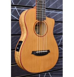 Cordoba Mini SM-CE Travel Electro Classical Nylon Guitar & Case