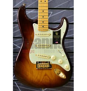 Fender 75th Anniversary Commemorative Stratocaster Bourbon Burst Electric Guitar & Case