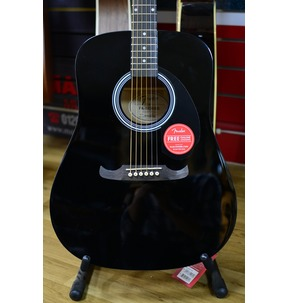 Fender FA-125 Dreadnought Acoustic Guitar & Gig Bag, Black