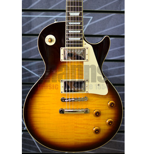 Tokai Vintage Series ULS136F BS Flamed Brown Sunburst Electric Guitar, & Case
