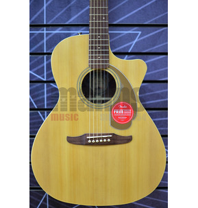 Fender Newporter Player Electro Acoustic Guitar, Natural, Walnut