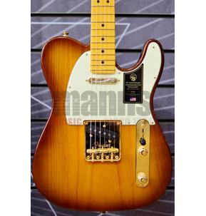 Fender 75th Anniversary Commemorative Telecaster Bourbon Burst Electric Guitar & Case