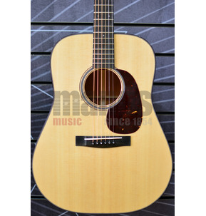 Huss & Dalton Traditional T-DM Dreadnought Natural All Solid Acoustic Guitar & Case