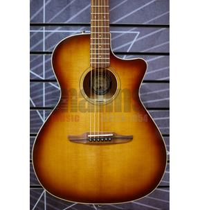 Fender Newporter Classic Electro Acoustic Guitar, Aged Cognac Burst, Pau Ferro