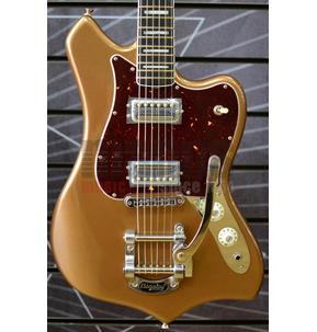 Fender Parallel Universe Volume II Maverick Dorado Firemist Gold Electric Guitar & Case