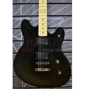 Fender Squier Contemporary Active Starcaster Flat Black Electric Guitar