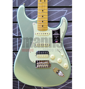Fender American Professional II Stratocaster HSS Mystic Surf Green Electric Guitar & Case