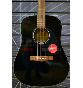 Fender CD-60 Dreadnought V3 With Hard Case, Black, Walnut