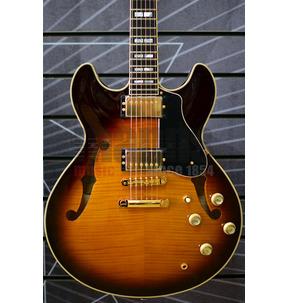 Yamaha Hollow Body SA2200 Brown Sunburst Electric Guitar & Case