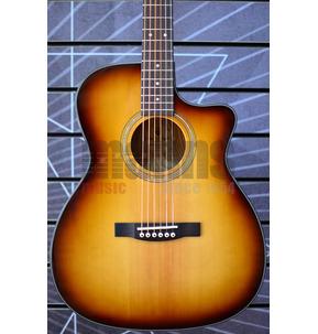 Guild Westerly OM-260CE Orchestral Model Deluxe Burl Edge Burst Electro Acoustic Guitar