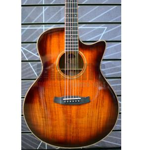 Tanglewood Winterleaf Exotic TW4 E VC KOA Grand Auditorium Autumn Burst Electro Acoustic Guitar