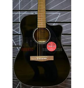 Fender CD-60SCE  Dreadnought Electro Acoustic Guitar, Black, Walnut
