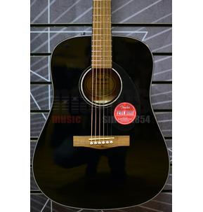 Fender CD-60S Acoustic Guitar, Black, Walnut