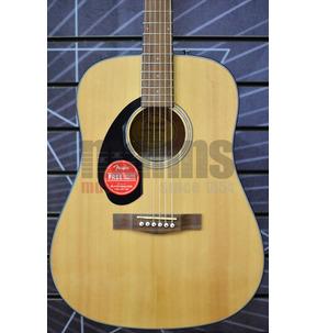 Fender CD-60S Left-Handed Acoustic Guitar, Natural, Walnut