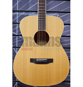 Auden Neo Bowman OM Natural All Solid Acoustic Guitar & Case