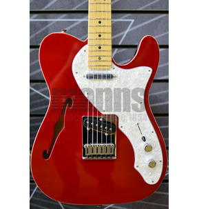 Fender Deluxe Telecaster Thinline Candy Apple Red Electric Guitar & Case