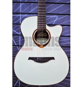 Lag Tramontane 118 T118ASCE-IVO Slim Auditorium Ivory Electro Acoustic Guitar