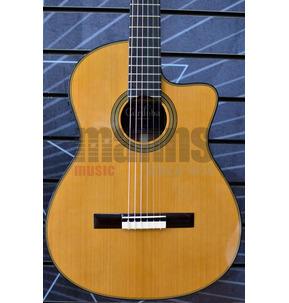 Cordoba Fusion 12 Natural Cedar Electro Classical Nylon Guitar - B Stock