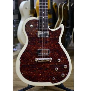 Godin Radiator Trans Cream, Rosewood Neck Electric Guitar & Case