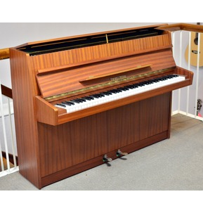 Secondhand Fuchs and Moore Rondo Upright Piano in Light Mahogany