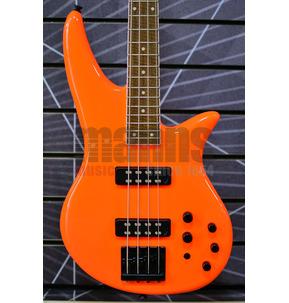 Jackson X Series Spectra SBX IV Neon Orange Electric Bass Guitar