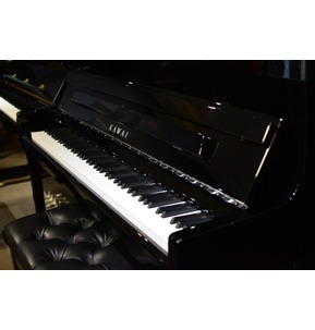 Kawai K300 Upright Acoustic Piano Polished Ebony & Chrome Hardware