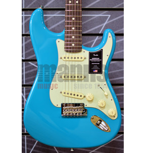 Fender American Professional II Stratocaster Miami Blue Electric Guitar & Case