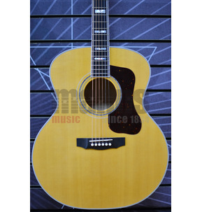 Guild USA F-55 Maple Jumbo Natural Acoustic Guitar & Case