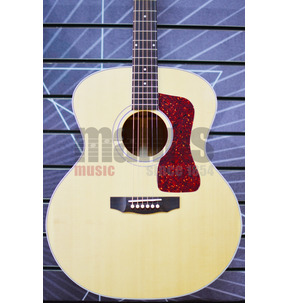 Guild USA F-40E Jumbo Natural All Solid Electro Acoustic Guitar & Case