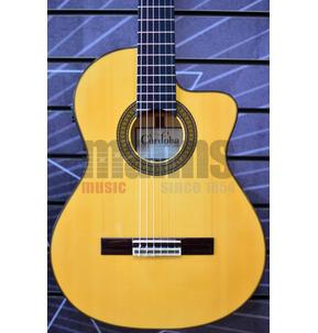 Cordoba Espana 55FCE Honey Amber Electro Nylon Guitar & Case - Used