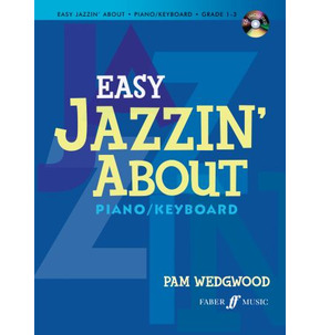 Easy Jazzin' About Piano/Keyboard Wedgwood Book/ CD
