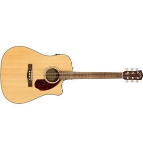 Fender CD-140SCE Dreadnought Electro Acoustic Guitar & Hard Case, Natural