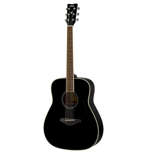 Yamaha FG820 Dreadnought Black Acoustic Guitar